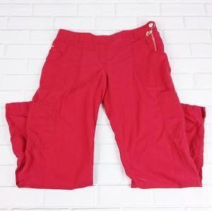Koi 709 Size L Scrub Pants Bottoms Size Zip Red